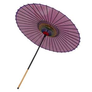 絹舞傘 - 赤紫