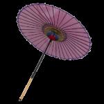 絹舞傘-赤紫